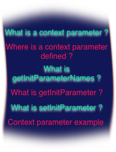 context initialization parameter what is ?